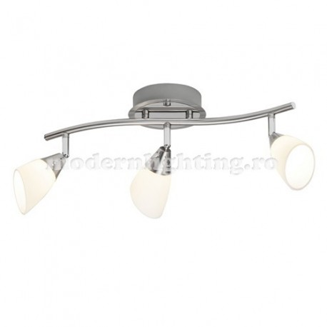 Spot Modernlighting, LED, cod MLS185, IP20, satin nickel, material metal sticla