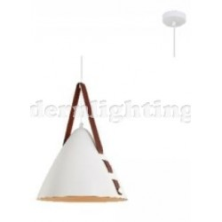 CONE LEATHER WHITE